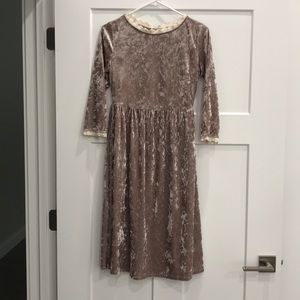 Velvet Roolee dress with lace